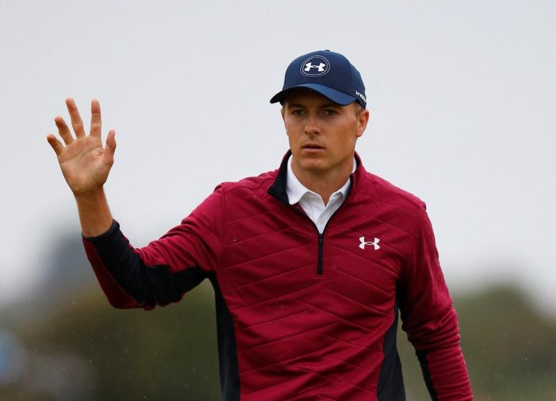Unfazed Spieth takes two shot British Open lead