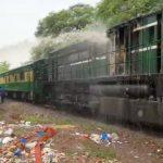 Karakoram Express engine catches fire near Gojra