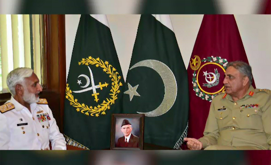 Chief of Naval Staff Admiral Zakaullah pays farewell visit to COAS