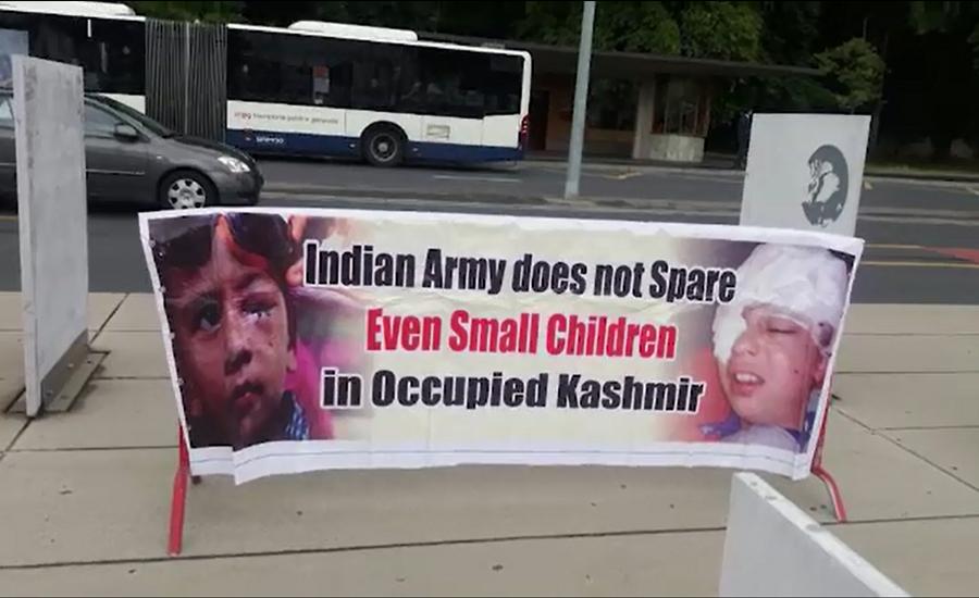 Kashmiris protest outside UN building