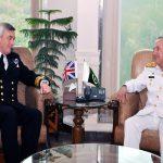 CNS Royal Navy UK Sir Philip Jones calls on CNS Admiral Zafar Abbasi