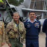 Air Chief Marshal Sohail Aman calls on British Air Chief Stephen Hillier