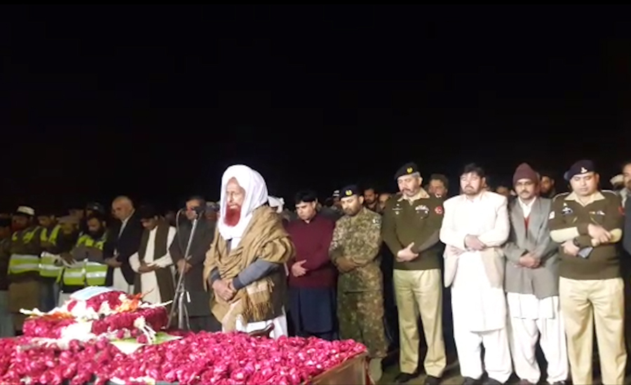 Funeral prayers for martyred 2nd Lieutenant Abdul Moeed offered in Vehari