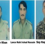 Three FC soldiers martyred, five terrorists killed in Mohmand Agency