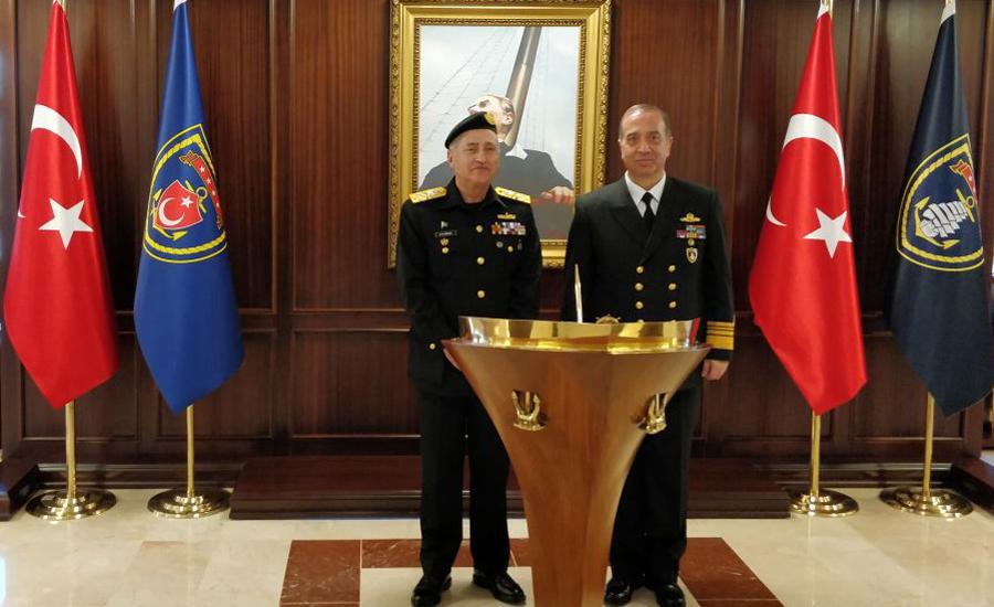 CNS Admiral Zafar Abbasi calls on Commander Turkish Fleet in Turkey