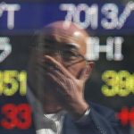 Asia stocks stumble on Wall Street losses, dollar sags