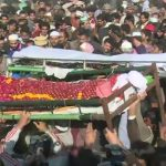 Funeral prayers of men killed in protest over minor girl's killing offered