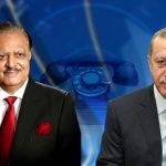 Turkish President Tayyip Erdogan phones President Mamnoon Hussain