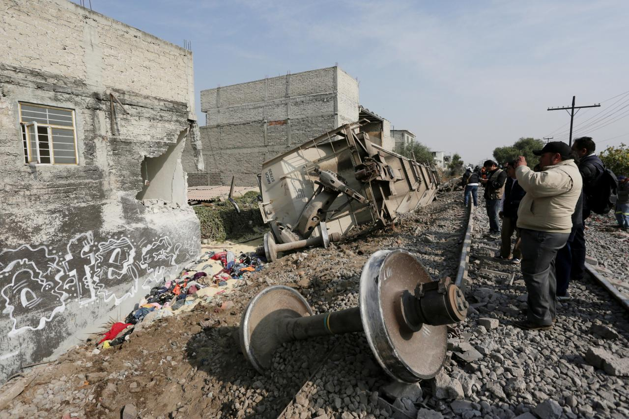 Train crashes in Mexico City suburb, killing at least five