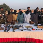 Eight suspects arrested, weapons recovered