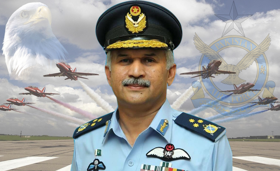 Newly appointed Air Chief Mujahid Anwar Khan takes command of PAF