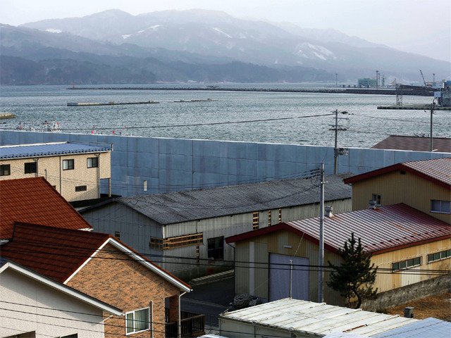 seven years after tsunami japanese live uneasily with seawalls 92