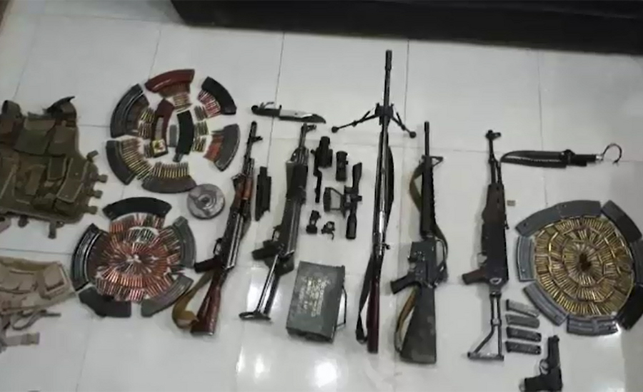 Raddul Fasaad: Weapons cache, explosives recovered during IBO in Sibi