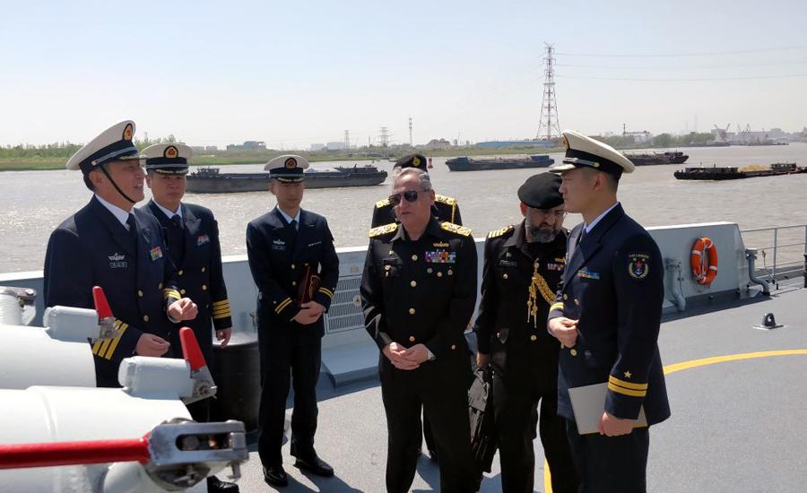 CNS Admiral Zafar Abbasi visits Shanghai Naval Base