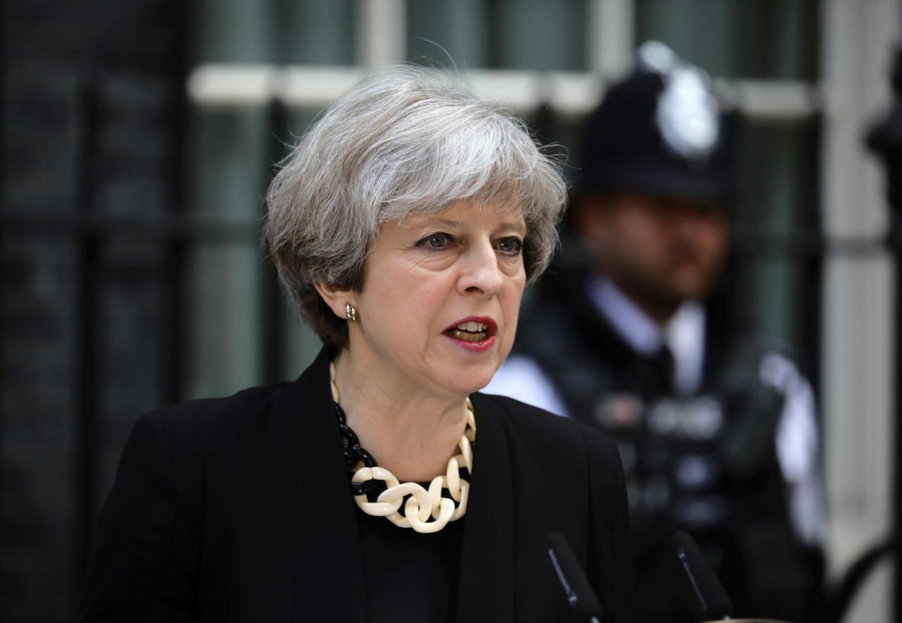 UK PM May says violence on Gaza border is 'tragic and concerning'