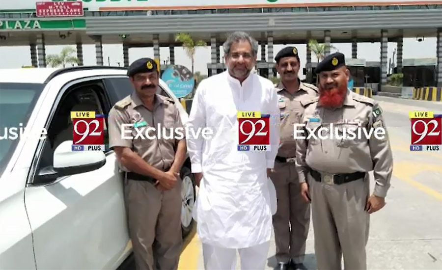 EX-PM Shahid Abbasi's vehicle fined for overspeeding
