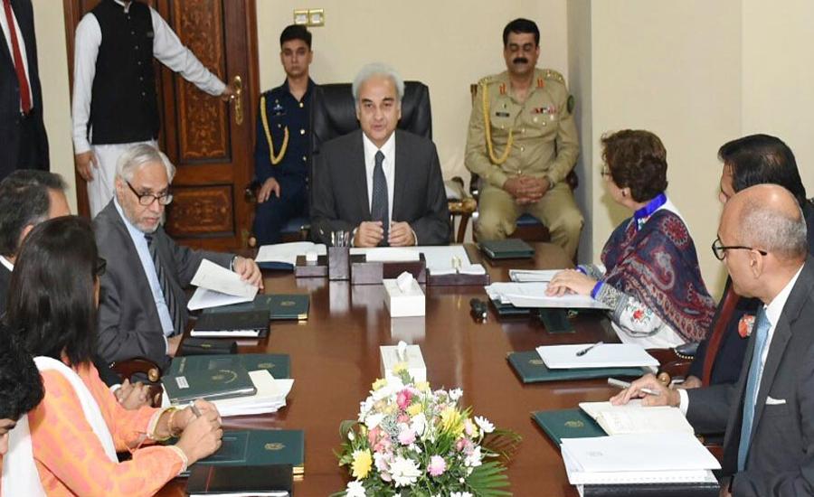 Tehmina Janjua briefs caretaker PM Nasir-ul-Mulk about foreign affairs