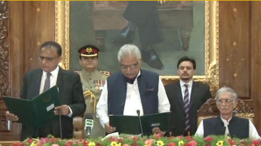 Justice (r) Dost Muhammad Khan takes oath as KP caretaker CM
