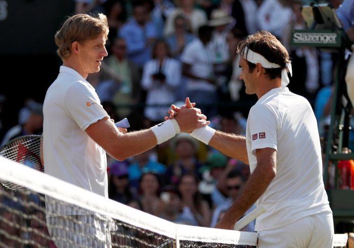 Anderson stuns Federer in Wimbledon quarter-final