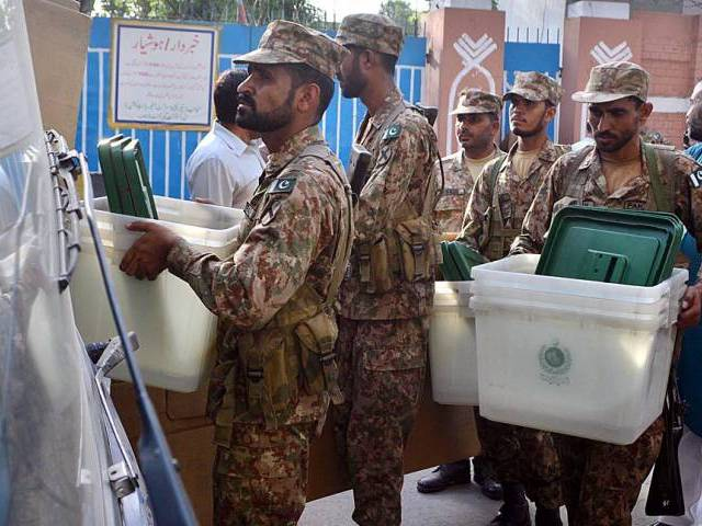 ECP requisitioned armed forces for assist under constitution: ISPR