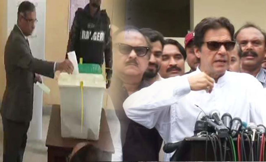CJ Saqib Nisar, Imran Khan cast their votes