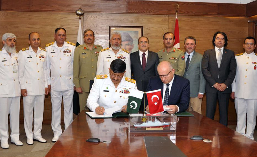 Pakistan Navy signs contract for acquisition of warships from Turkey