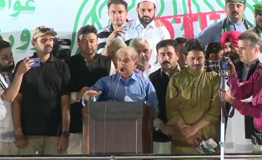 Shehbaz says nation has rejected verdict against Nawaz Sharif