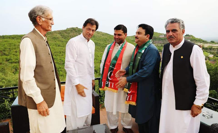 Three FATA senators join PTI ahead of presidential elections