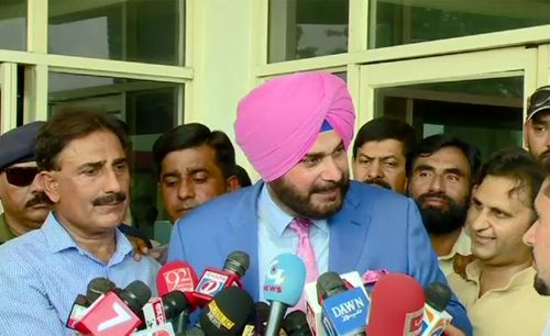 Sidhu arrives Pakistan