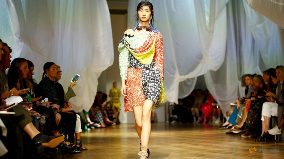 Florals and lace dominate at Preen, Roland Mouret fashion shows