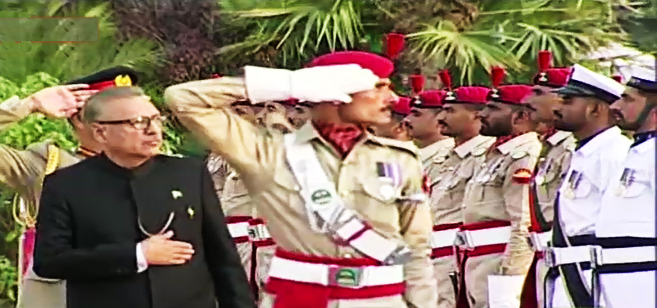 President Arif Alvi receives welcoming Guard of Honor at Aiwan-e-Sadr