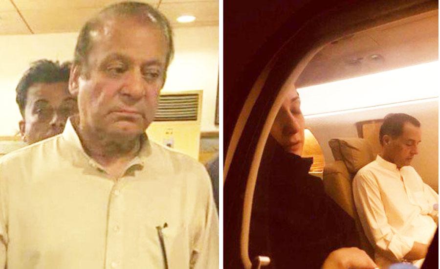 Nawaz, Maryam, Safdar released on parole to attend Kulsoom's funeral