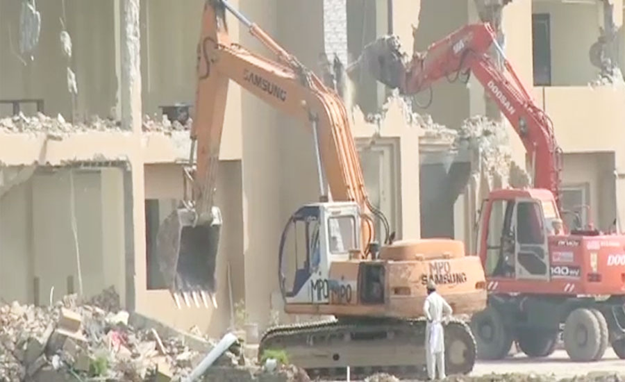 Anti-encroachment operation continued in Islamabad