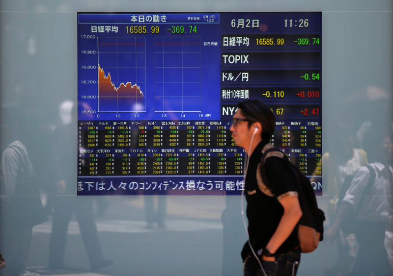 Asian shares extend losses on trade, emerging market anxiety