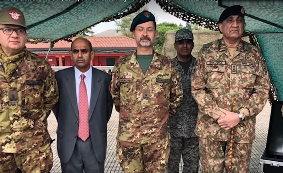 COAS Qamar Bajwa, Italian defence minister discuss security cooperation