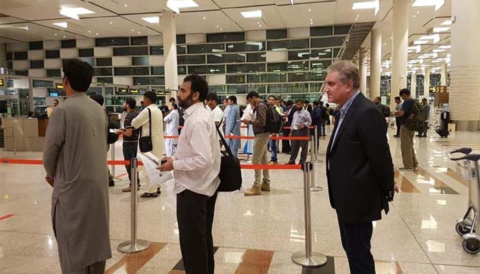 FM Qureshi returns to Pakistan after 14-day successful US trip