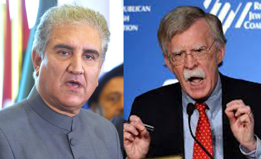 FM Qureshi, John Bolton discuss regional situation in South Asia