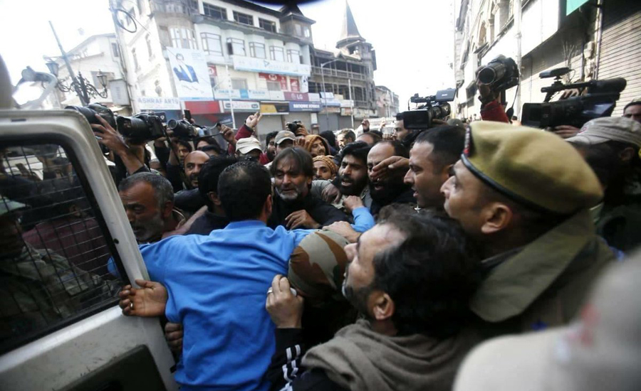 Yasin Malik, other Hurriyat leaders arrested to stop peace march in Srinagar