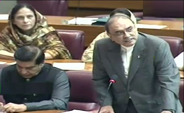Asif Zardari offers olive branch to government