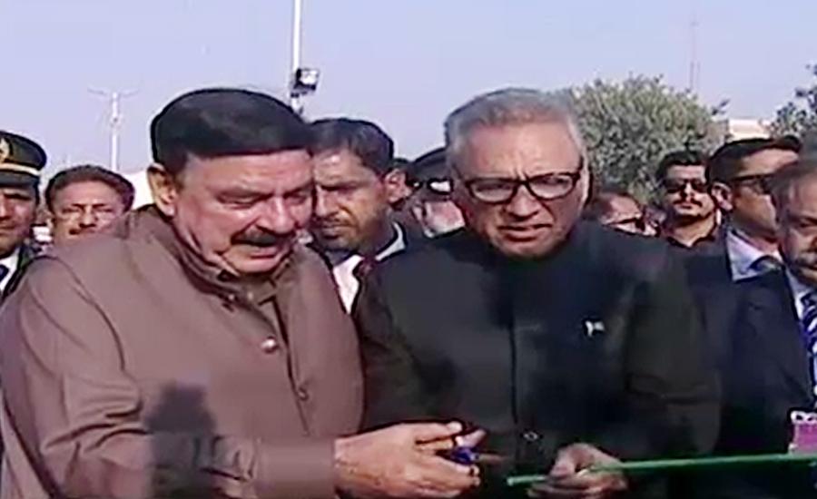 President Arif Alvi inaugurates Dhabeji Express in Karachi