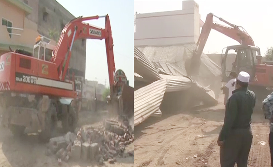 Anti-encroachment drive continues for 3rd day across Punjab
