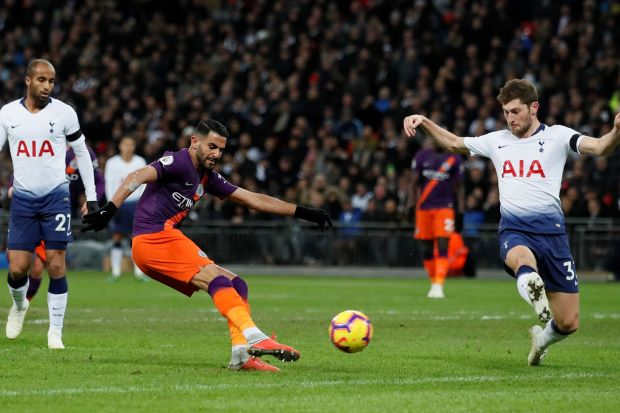 Footballer Mahrez seals points for Man City at Tottenham