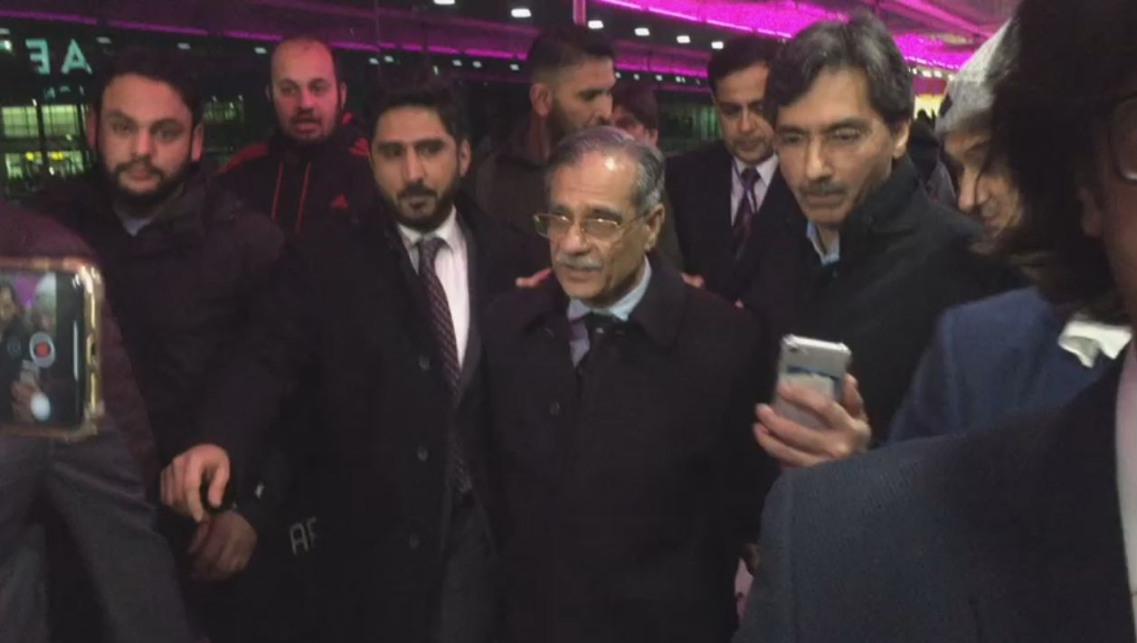 CJP arrives in London to raise funds for dam
