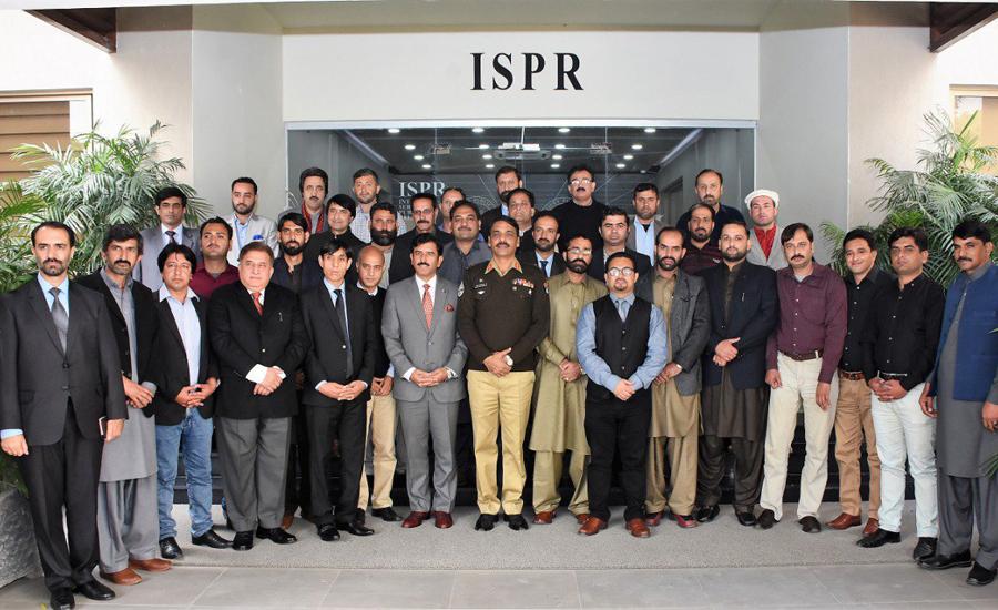 Journalists' delegation from Gilgit-Baltistan, AJK & Hazara visit ISPR