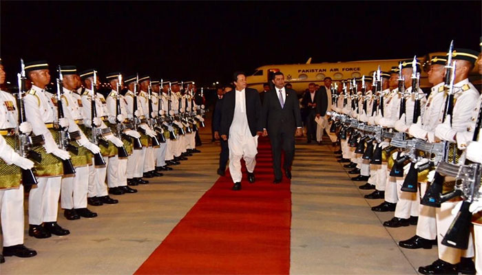 PM Imran reaches Malaysia for two-day official visit