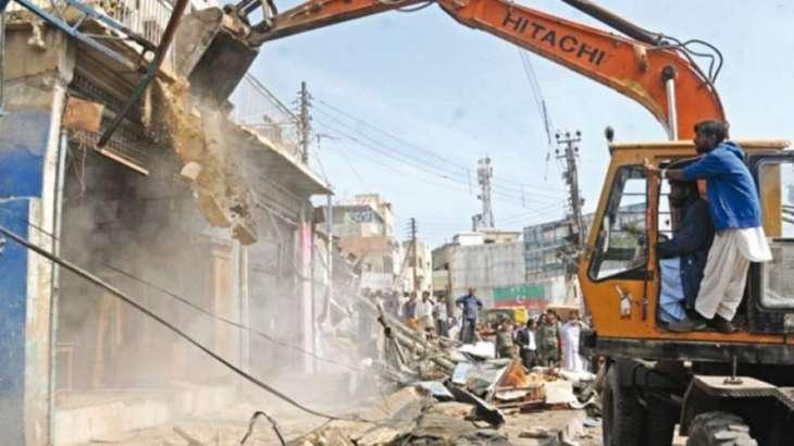 Anti-encroachment drive along Karachi's nullah enters third day