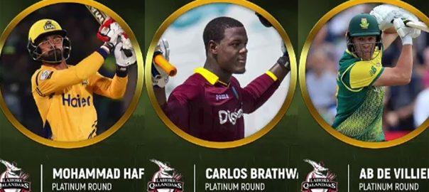 Lahore Qalandar Pick De Villiers Hafeez For Fourth Edition Of Psl