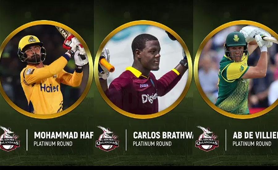 Lahore Qalandar pick De Villiers, Hafeez for fourth edition of PSL