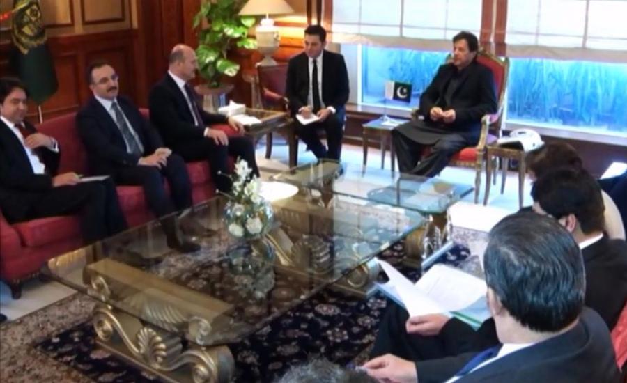 Turkish Interior Minister Suleyman Soylu calls on PM Imran Khan