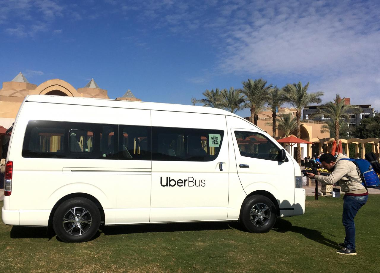 Uber launches bus-booking service in Egyptian capital